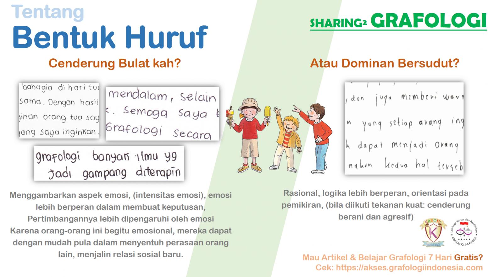 Sharing Grafologi - Bentuk Bulat & Sudut