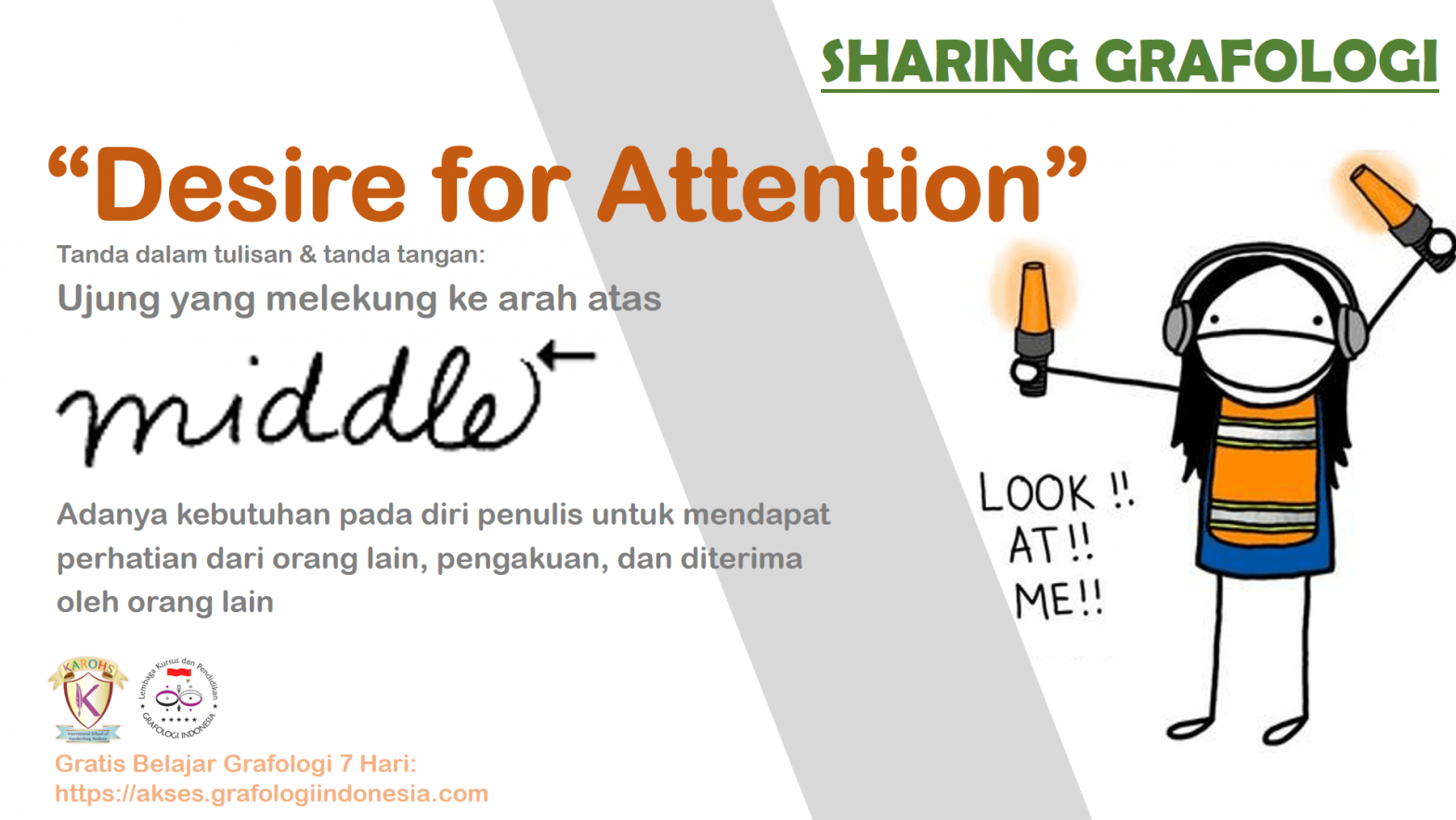 Sharing Grafologi - Desire for Attention