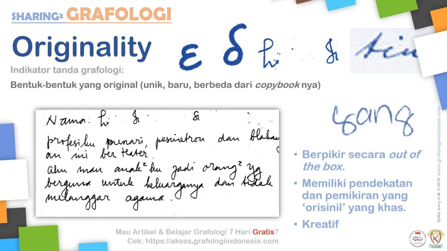 Sharing Grafologi - Originality