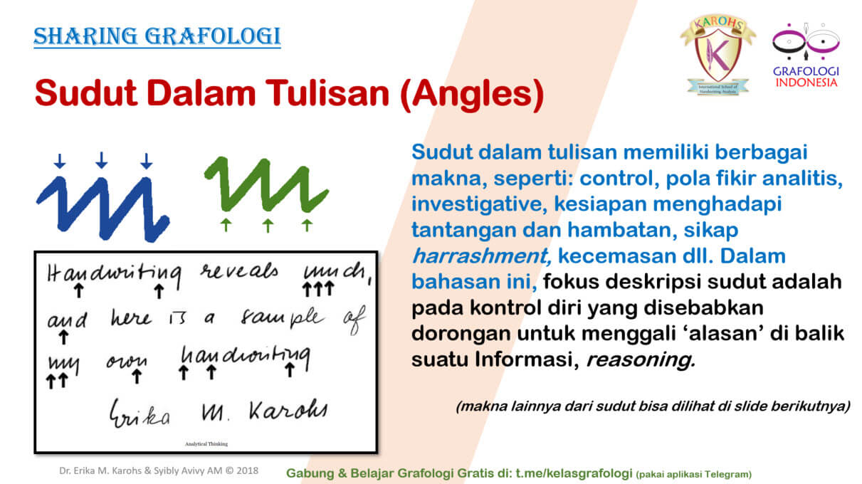 Sharing Grafologi - Sudut (Angles) 1